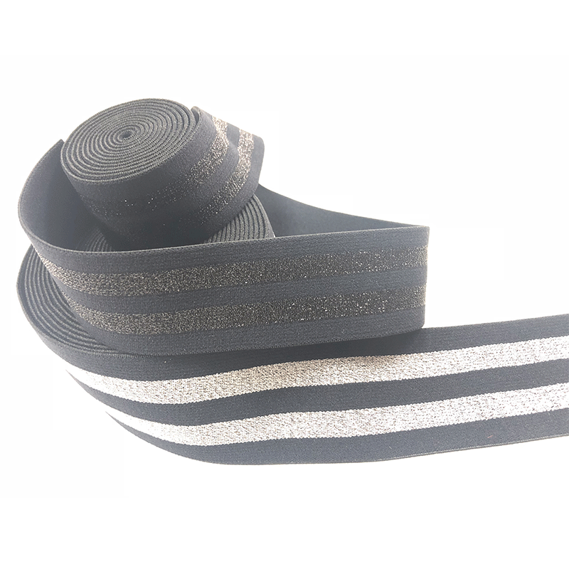 Gold and silver elastic band