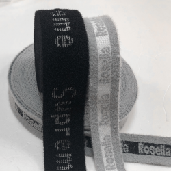 Rib knit jacquard belt